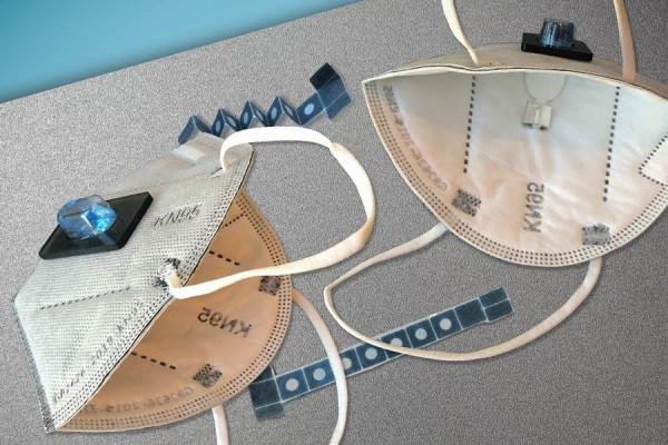 Датчик легко встраивается в маску N95, обеспечивая результаты за 90 минут.