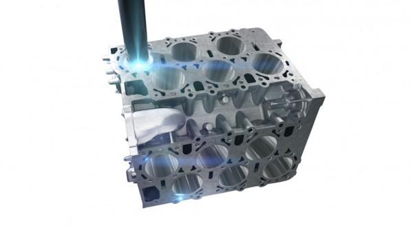 Процесс обработки цилиндров лазером