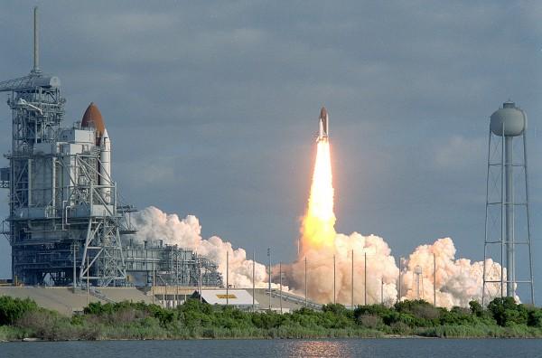 Запуск шаттла с телескопом