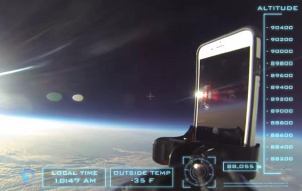 Для того чтобы подняться на заданную высоту, iPhone 6 понадобилось 3 часа и еще 45 минут ушло на полет обратно