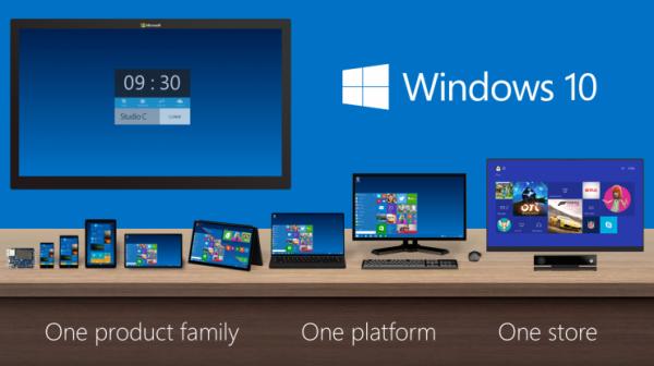 Windows 10 будет иметь семь вермий