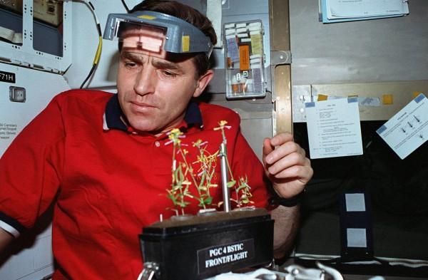 Леонид Каденюк на борту МКС