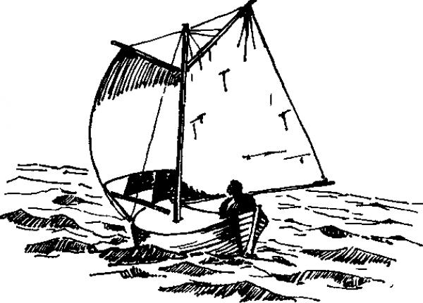 На такой лодке Енсен переплыл океан