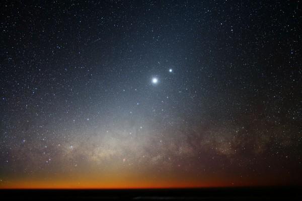 Юпитер и Венера на небе