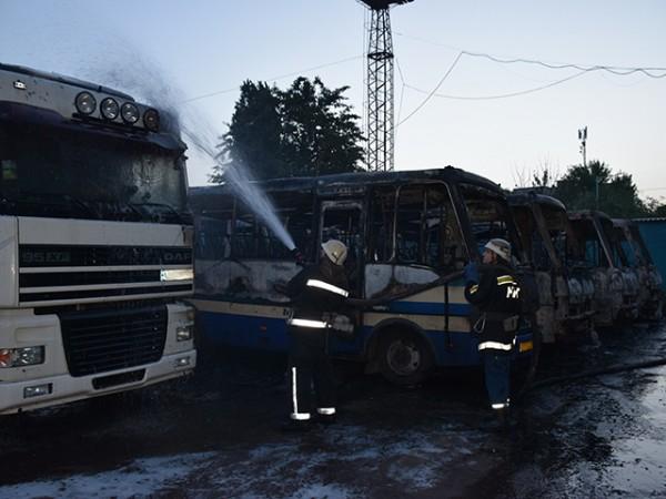 Последствия пожара в Николаеве
