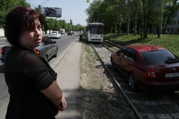 В Донецке травмай №1 чуть не столкнулся со Шкодой