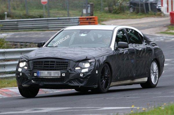 Прототип нового Mercedes S-Class на тестах