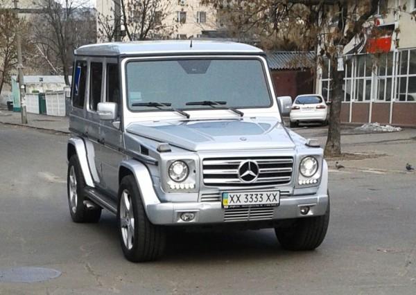 Mercedes-Benz G-Class на тех же номерах