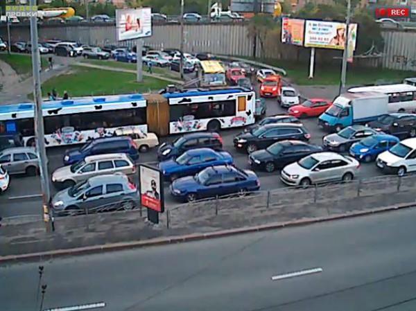 Пробки в Киеве: Московский проспект - улица Новоконстантиновская