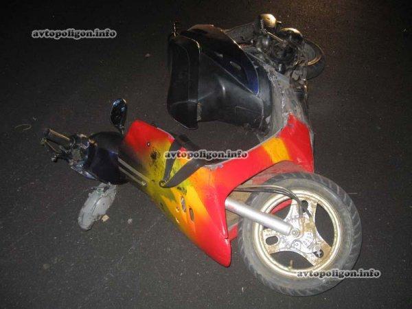 На этом скутере разбился и погиб подросток