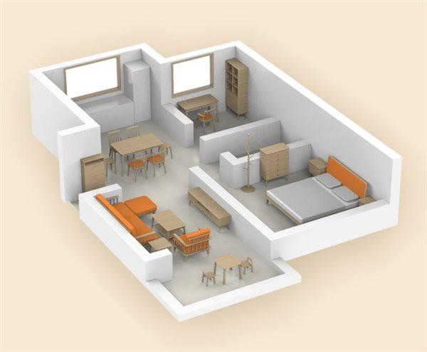 Мебелью можно обставить всю квартиру