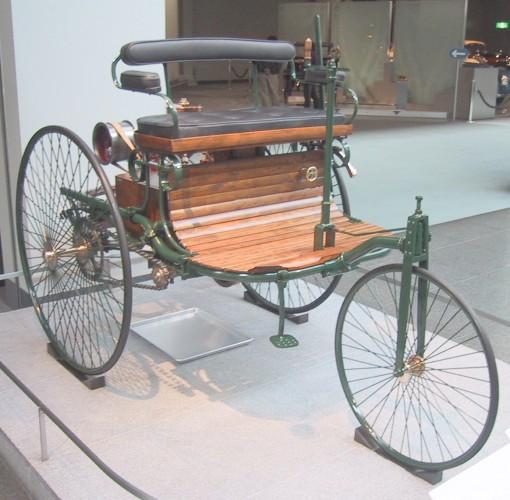 Benz Patent-Motorwagen - первый автомобиль с бензиновым двигателем