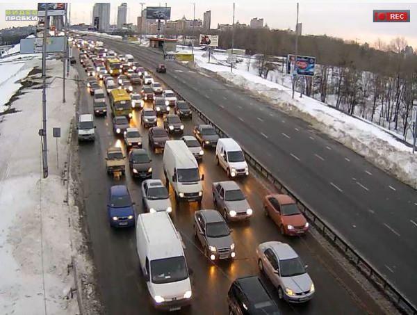 Пробки в Киеве: Московский мост, с работы домой