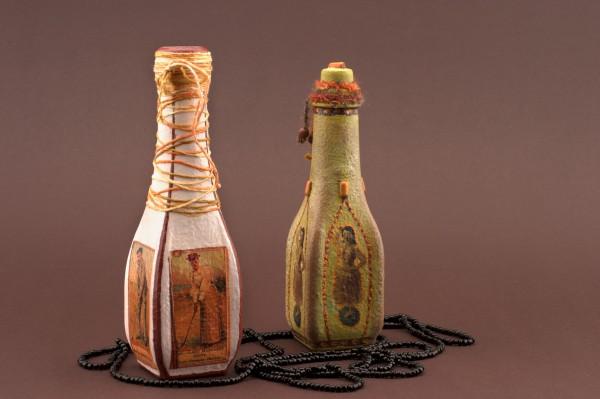 Чем интересен декупаж бутылок