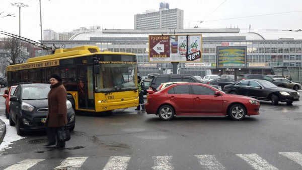 Затор в центре Киева