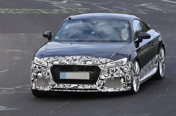 Audi TT RS впервые замечена на тестах