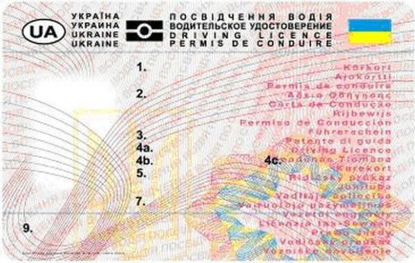 В украинские права добавят новые категории