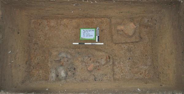 Раскопки на месте поселения