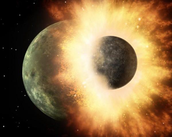 Впечатление художника от столкновения планет