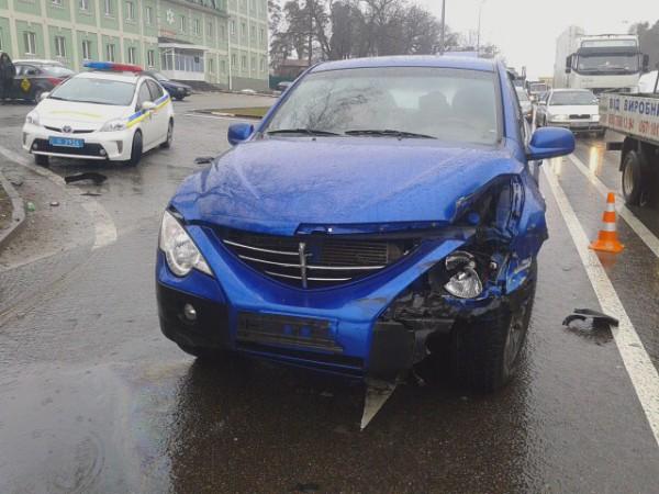 Машина виновников аварии