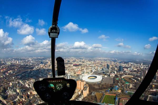 Компания Heliclub предлагает посмотреть на Киев с высоты птичьего полета