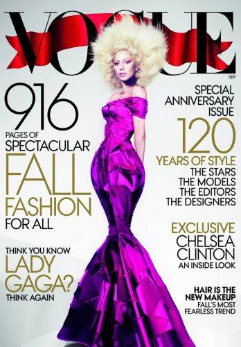 Обложка  Vogue сентябрь с Леди Гагой
