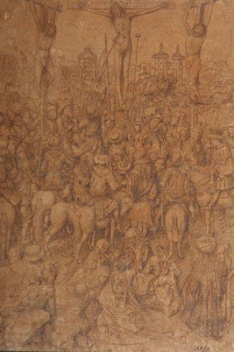 Рисунок Распятие Христа Ван Эйка был признан важнейшей находкой 10-тилетия