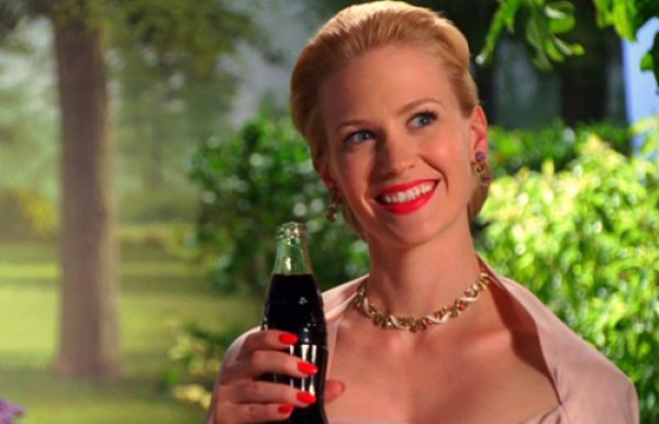 Бетти Дрейпер на кастинге для Coca Cola