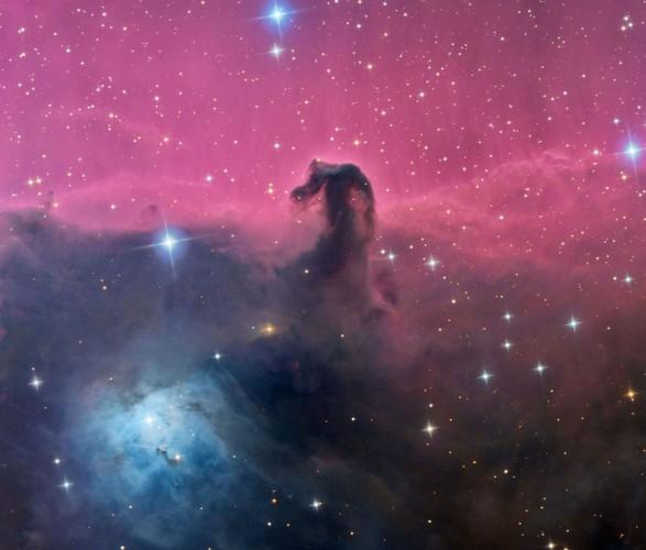 Туманность B33 Конская Голова и NGC2023 в созвездии Орион. КрАО, пос. Научный, Крым. Олег Брызгалов.
