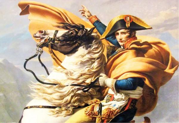 "Фрагмент картины Жака-Луи Давида ""Наполеон на перевале Сен-Бернар"