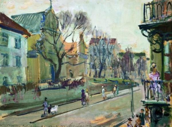 Николай Глущенко. Киев, улица Лютеранская. 1945 г.