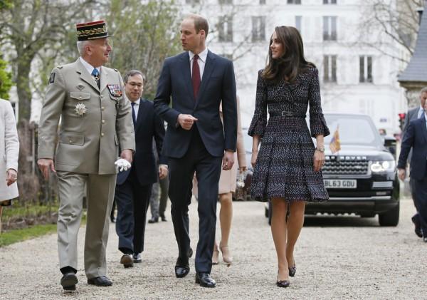 Кейт Миддлтон и принц Уильям в Париже
