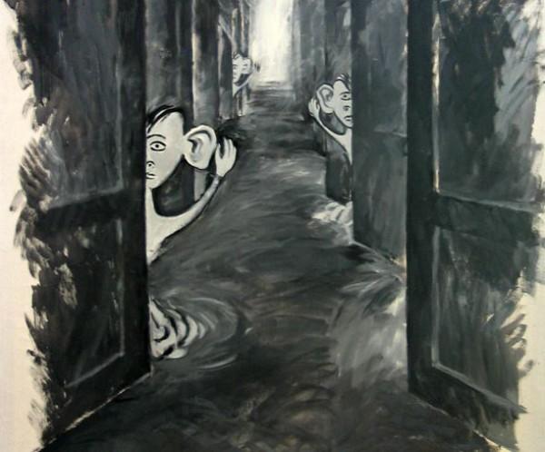 Фрагмент картины Александра Гнилицкого Чу(1990)