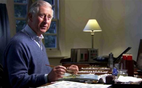 Принц Чарльз представил в сети свои картины