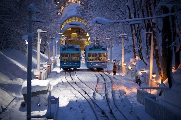 Киевский фуникулер будет работать в новогоднюю ночь