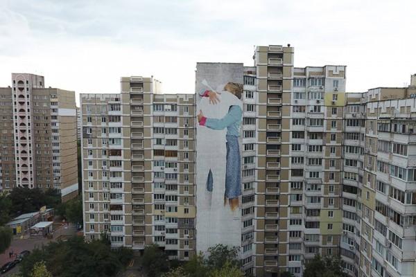 Новый мурал на Харьковское шоссе, 158 в Киеве