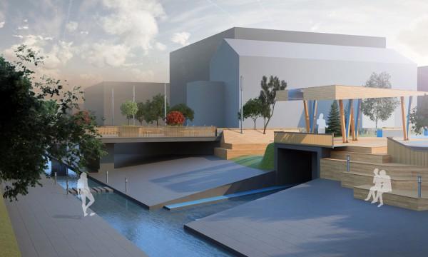 Проект благоустройства общественного пространства на реке Лыбидь
