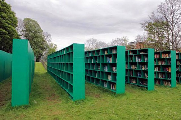 Библиотека Open Air в парке Позняки