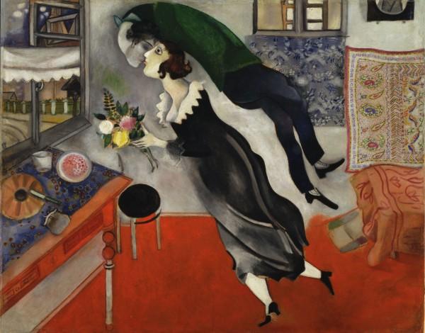 Картина Марка Шагала Поцелуй