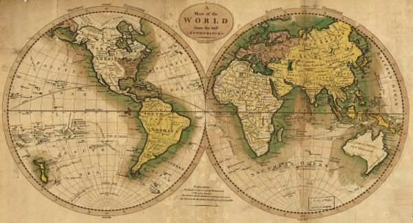Карта мира 1795 г.