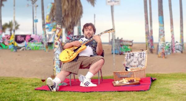 Джек Блэк в клипе Gorillaz