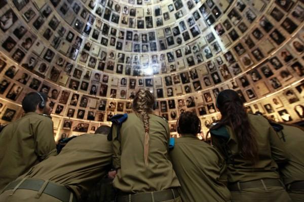 Стена памяти в музее Яд ва-Шем