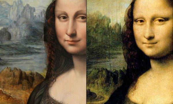 Репродукция Моны Лизы (слева) перевернула представление об оригинале.