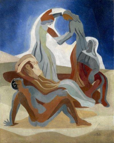 Александра Экстер. Танцующие на пляже. 1930-е годы