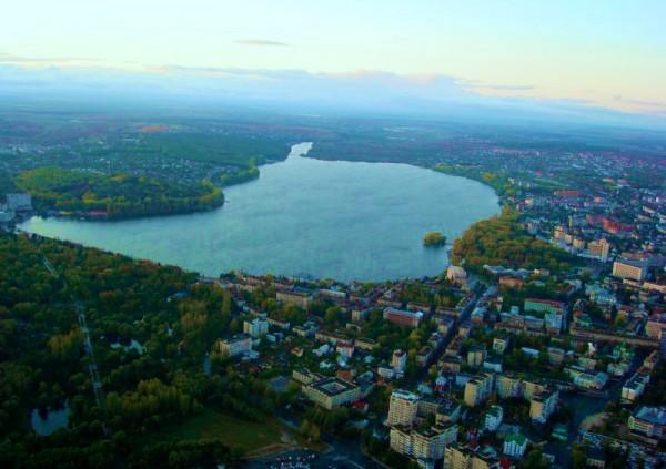 Фото Тернополя с воздушного шара