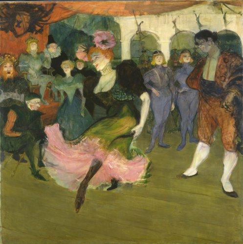Картина Анри Тулуза-Лотрека Марсель Лендер танцующая Болеро