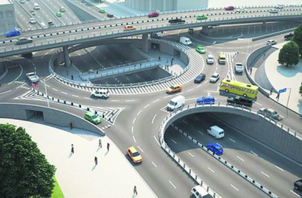 Альтернативный проект. Позволит выполнять любые повороты и пропустит в час до 22 тыс. машин. Фото: В. Петрука