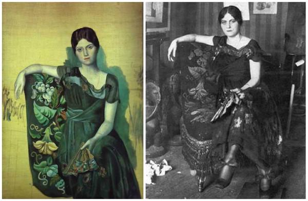 Портрет Ольги Хохловой работы Пикассо (1917 г.)