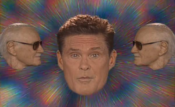 В клипе, стилизированном под 70-е, Дэвид Хасельхофф поет в костюме со стразами.