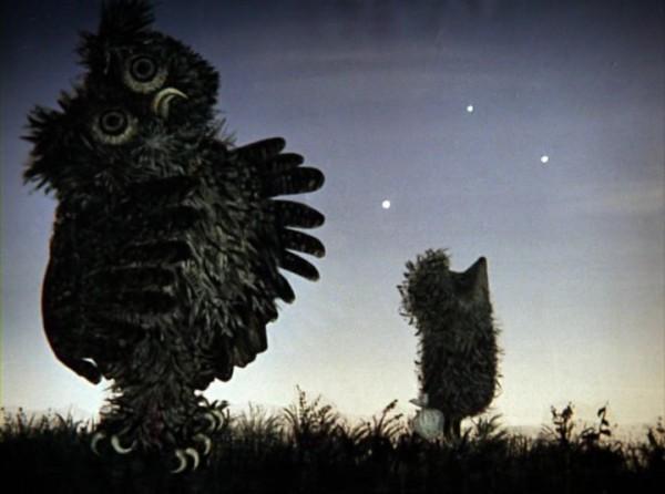 Кадр из мультфильма Ежик в тумане